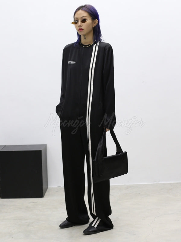 Casual Comfortable Striped Jumpsuits