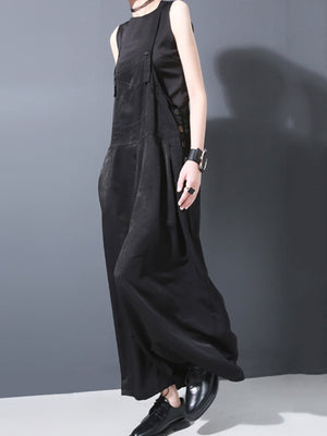 Loose Wide-leg Long Jumpsuits
