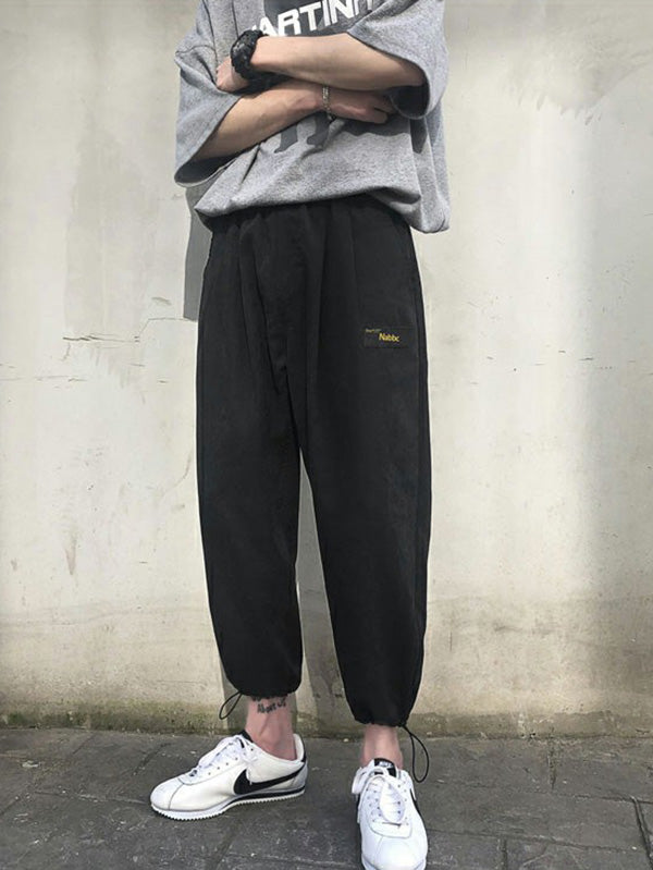 Loose Elastic Waist Designed Men Overall  Pants