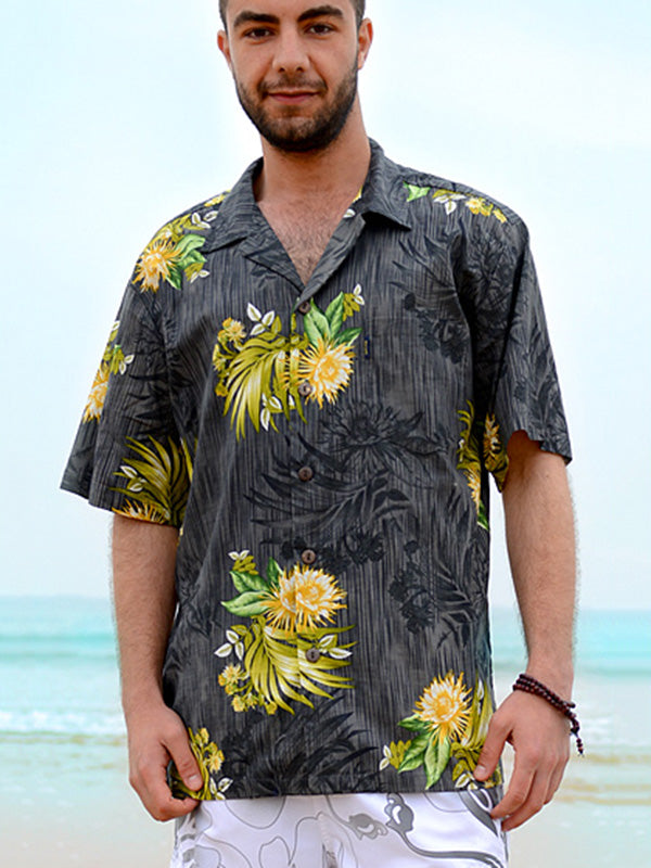 Cotton Hawaii Printed Men Shirt