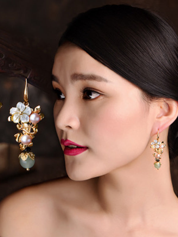 Original Flower Pearl Earrings