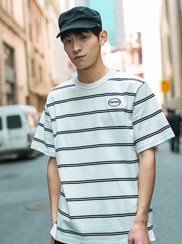 Casual Striped Simple T-shirt