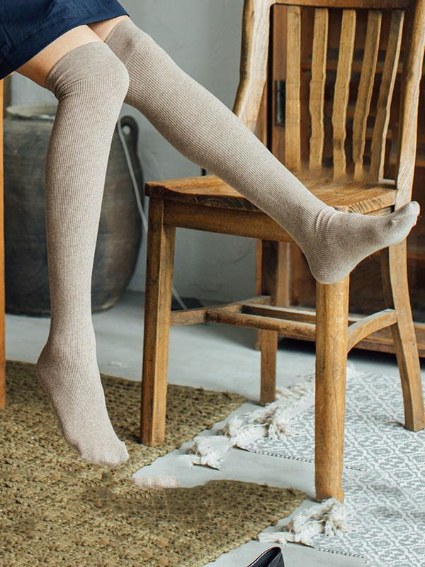 Soft Light Overknee stockings