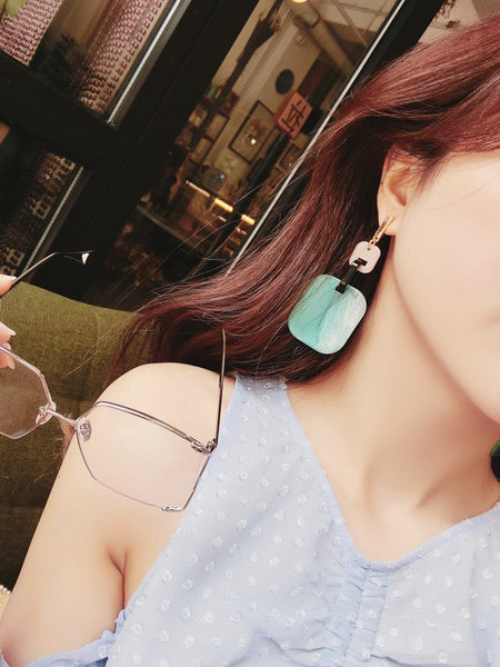 Fashion Designed Square Split-joint Earings