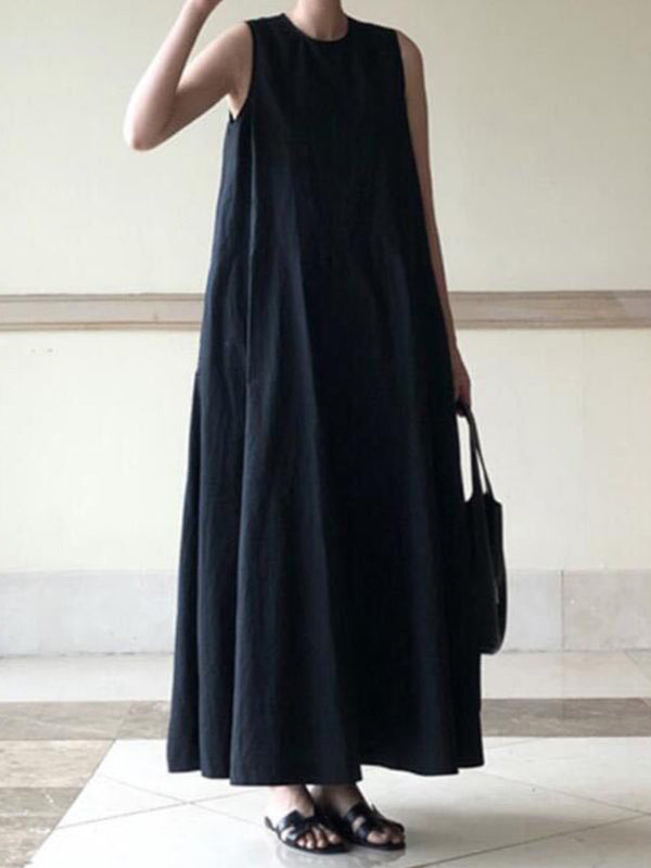 Simple Sleeveless Black Dress