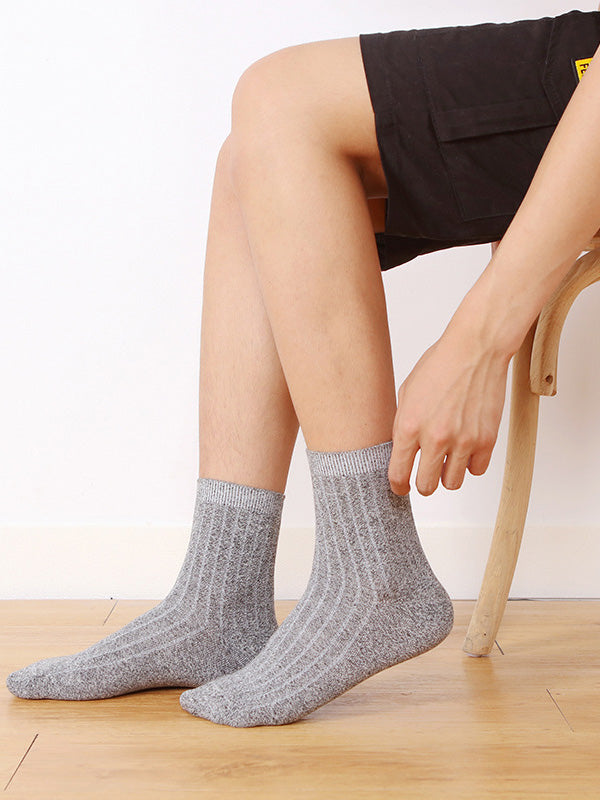 Men Striped Thickening Breathable Cotton Socks