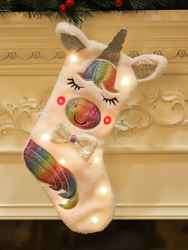 Unicorn Style Christmas Stockings Decorations