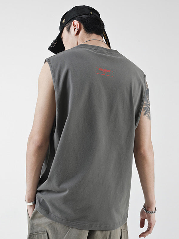 Casual Sleeveless Hip-hop T-shirt
