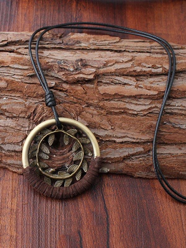 National Bohemia Grass Ring Necklace