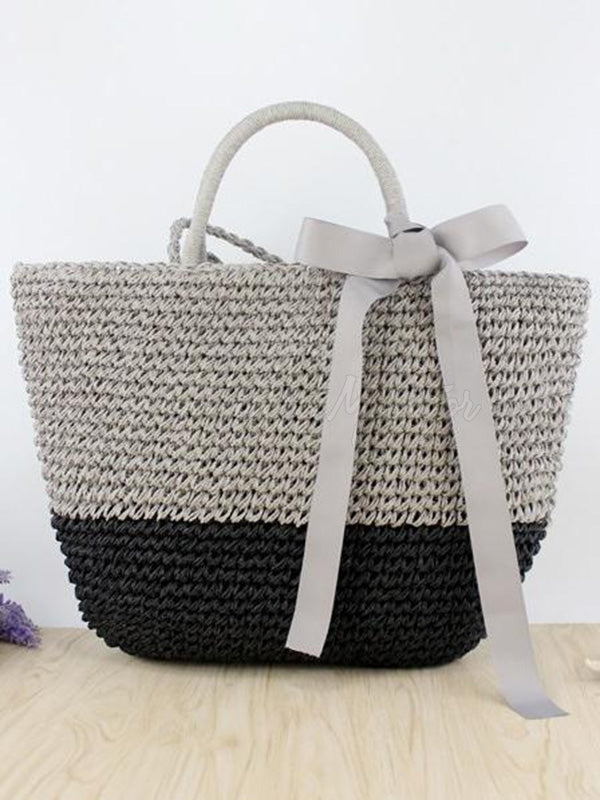 Bowknot Ribbon Weaving Dual Bag
