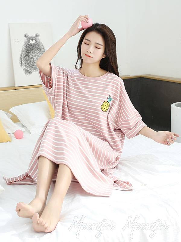 Simple Modal Striped Lovely Pajamas