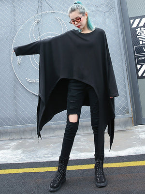 Cropped Plus Size Batwing Sleeves Fashion Shirt Top