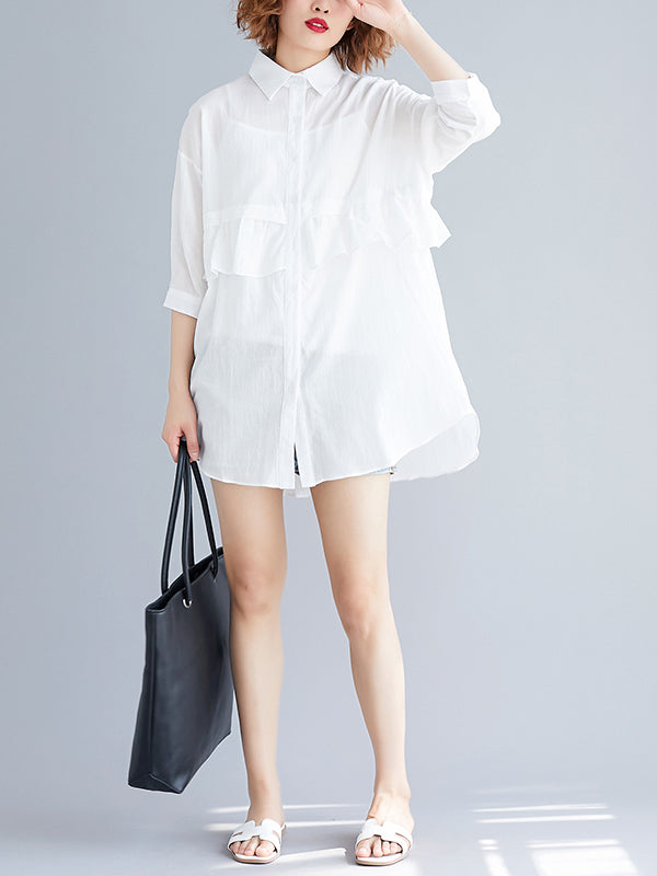 Loose Stringy Selvedge Light Blouse Shirt