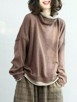 d189d99c0d198 Loose Batwing Sleeves Knitting Sweater – moongor
