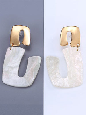 New Fashion Succinct Acrylic Earring