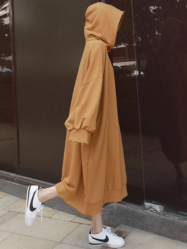 Super Loose Long Hoodie Dress