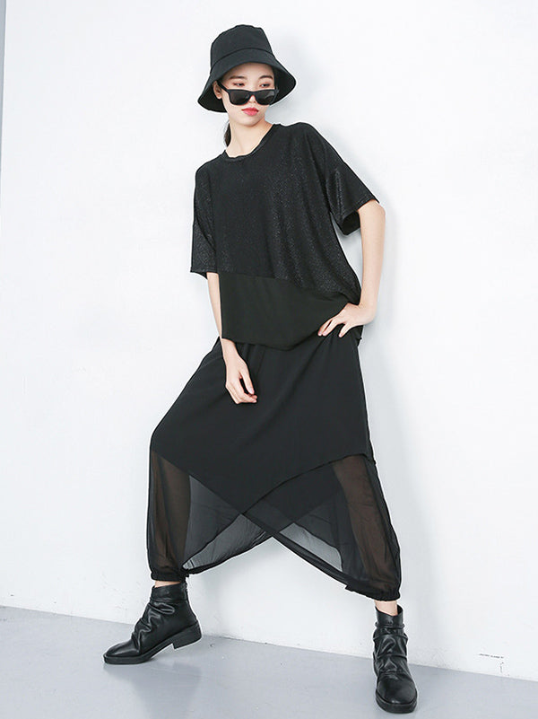 Casual Irregular Chiffon Tops