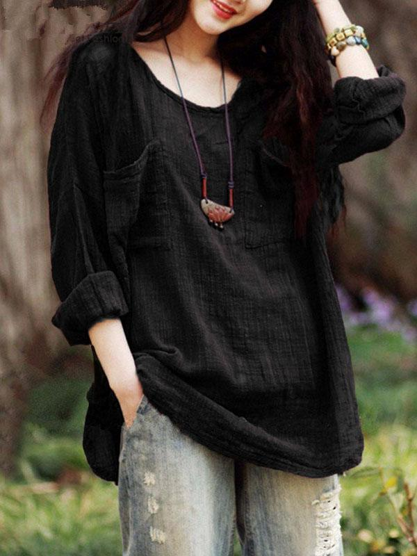 Loose Comfortable Cotton Blouses
