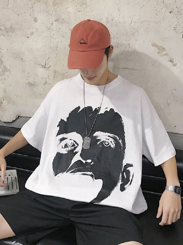 Fashion Printed Oversize Men T-Shirt