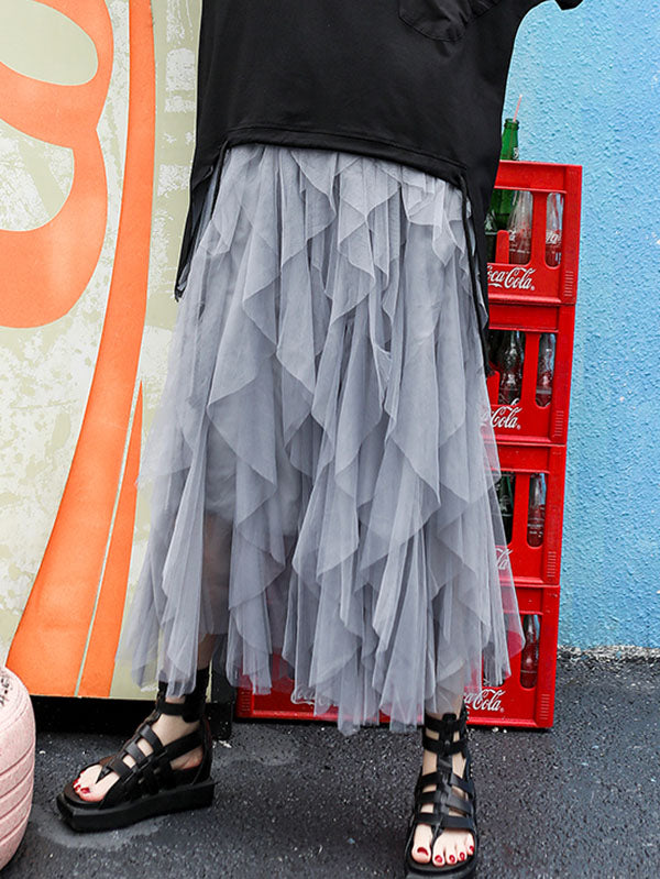 Irregular Grenadine Empire Skirt