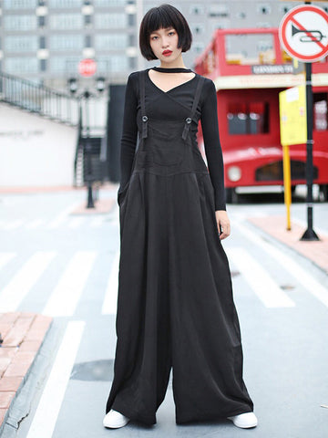Loose Elegant Cotton Jumpsuit