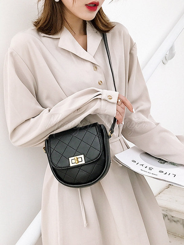 Plain Rhombic Semi-Circular Saddle Bag
