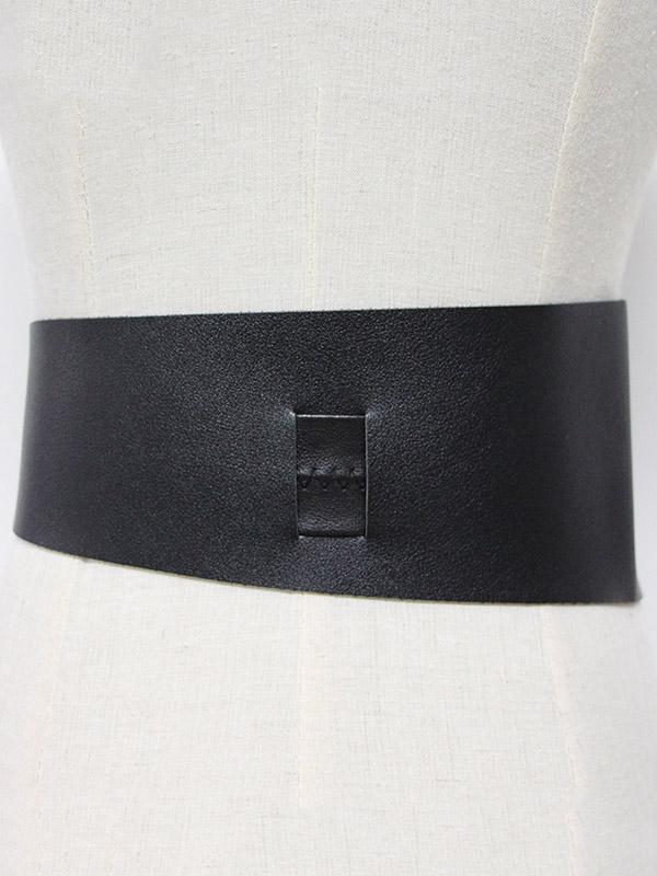 Imitation Leather Lace-up Belt Accessories