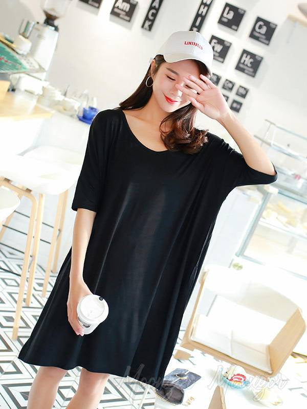 Loose Comfortable Solid Color Dress Pajamas