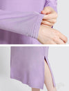 Loose Solid Split-Side Pajamas