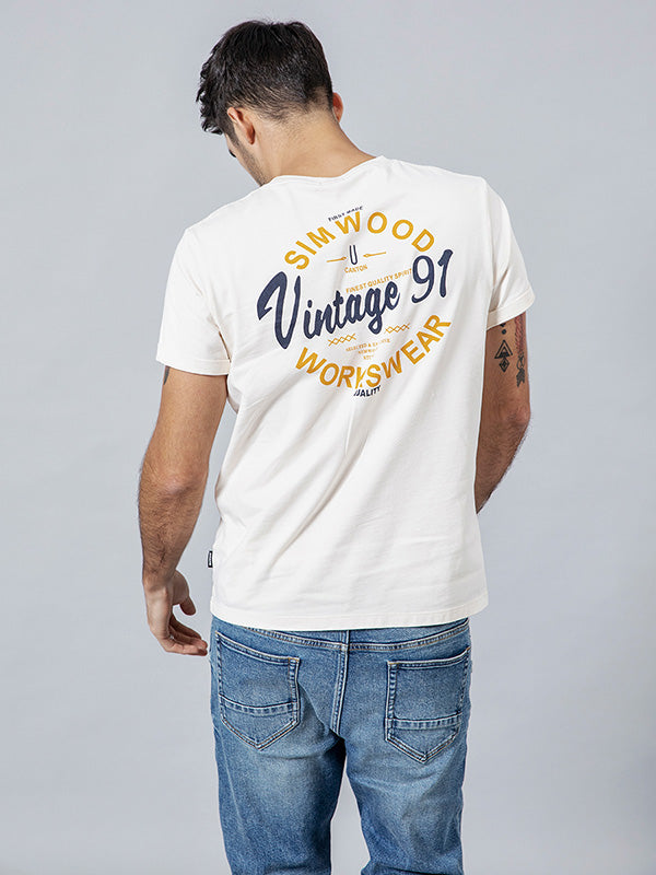 Casual Printed Cotton T-shirt