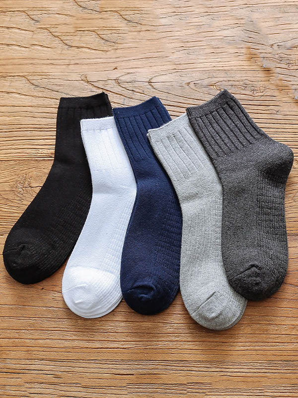 Plain Striped Thickening Socks