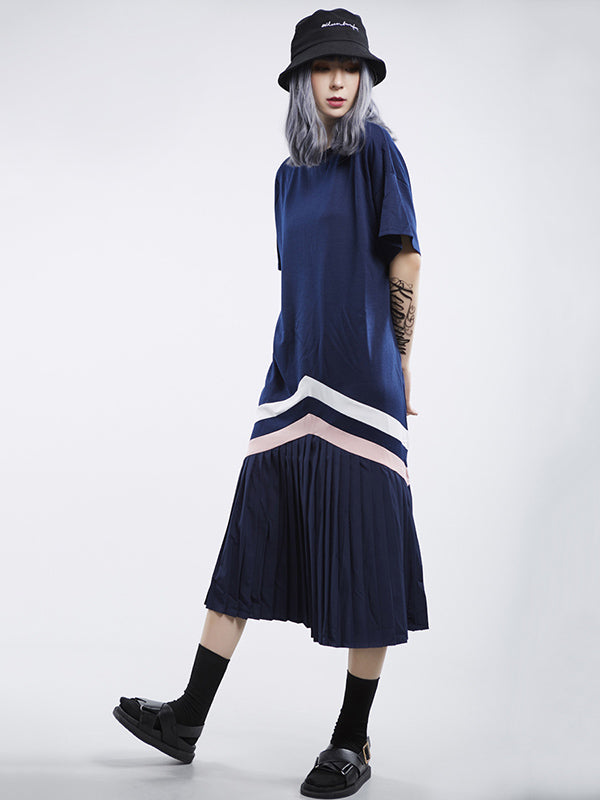 Ruffled Short Sleeves Long Dress
