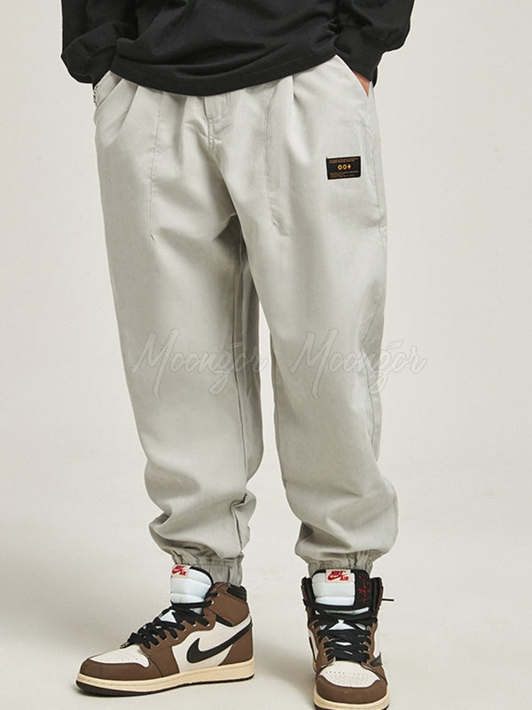 Casual Ankle-tied Drawstring Men's Pants