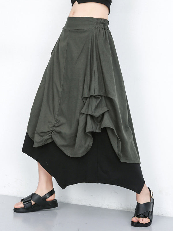 Casual Designed Cotton Ruffled Skirt