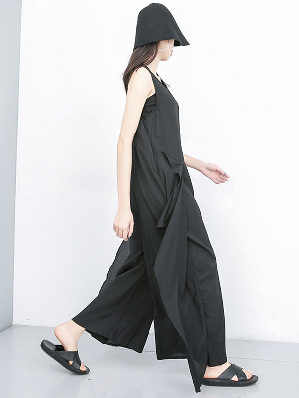 Loose Wide-leg Split-joint Jumpsuit