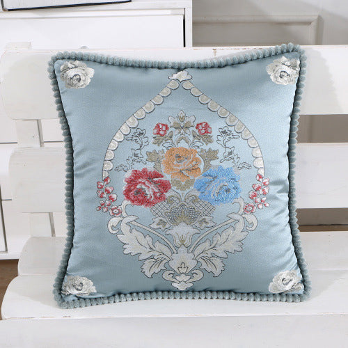 Vintage Printed Embroidered Pillow Case