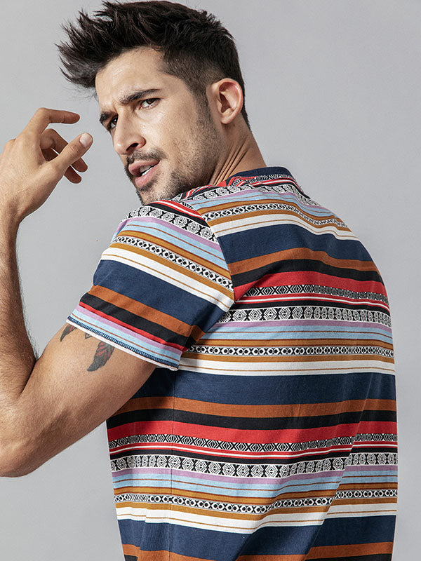 Men National Striped T-shirt