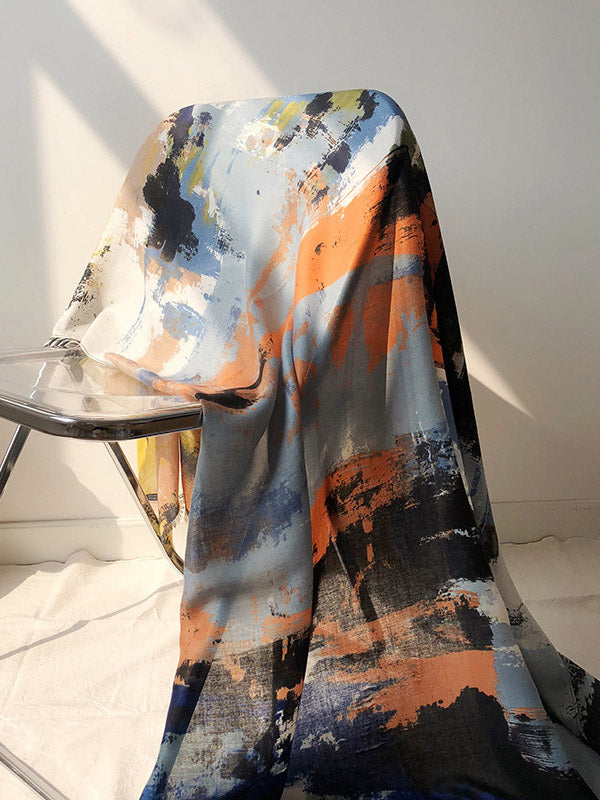 Oil Painting Printed Two-Side Cape