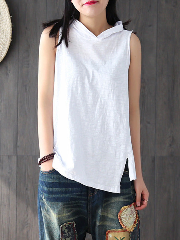 Casual Split-side Hoodie T-shirt