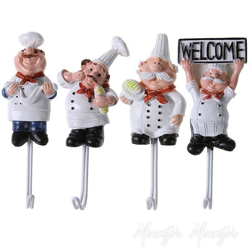 Cartoon Chef Shape Stainless High Sticky Hooks