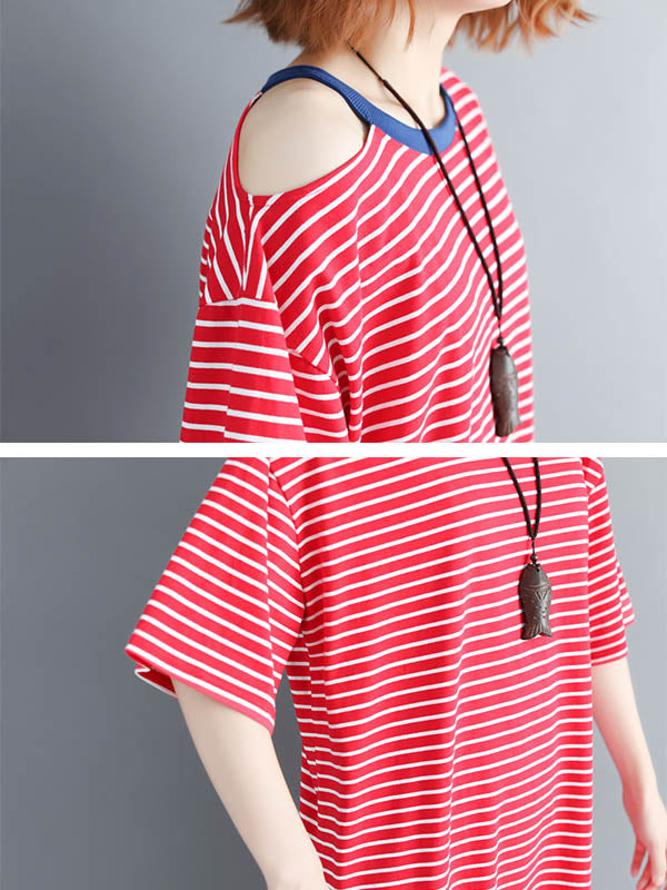 Cotton Oversize Striped Dress