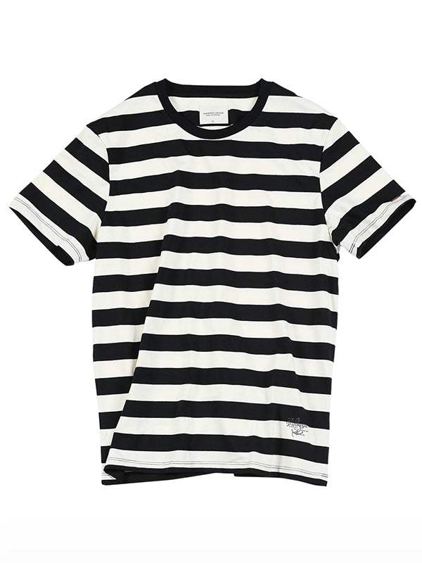 Casual Striped Cotton T-shirt