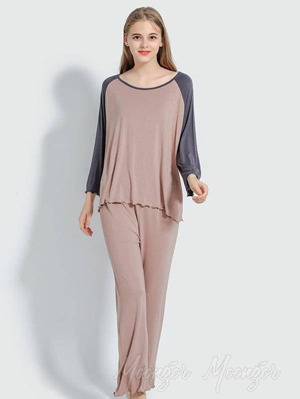 Comfortable Solid Loose Pajamas
