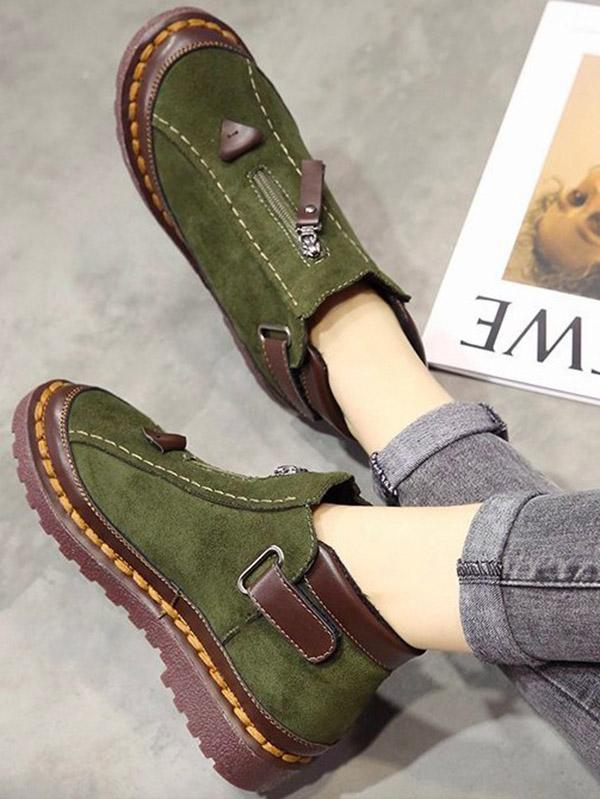 Fashion Martin Flats Booties Shoes