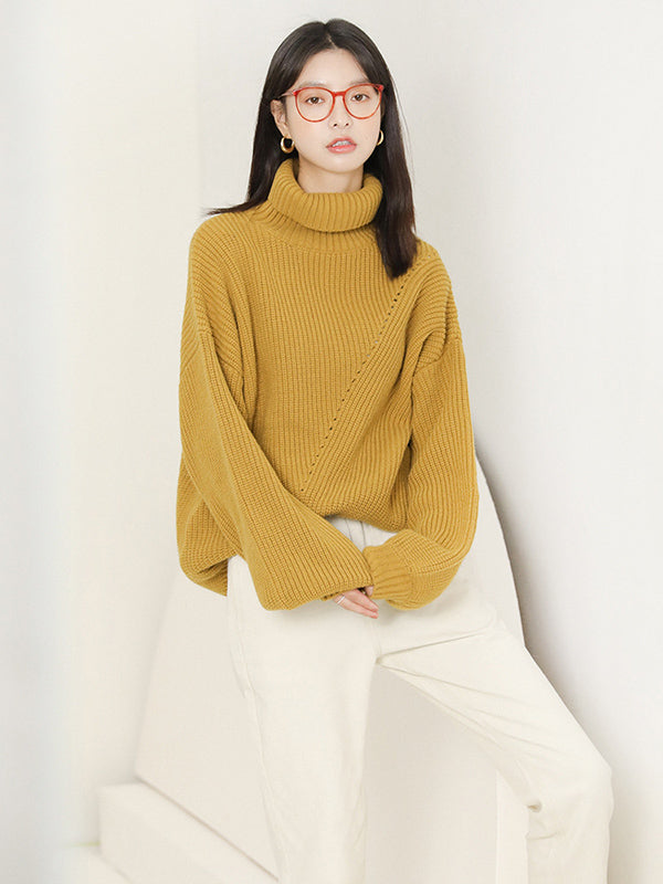Loose Comfortable Pure Color Sweater