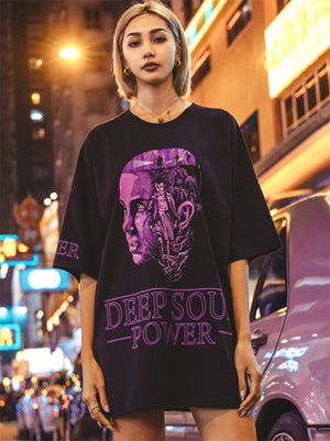 Casual Oversize Printed Lovers T-shirt