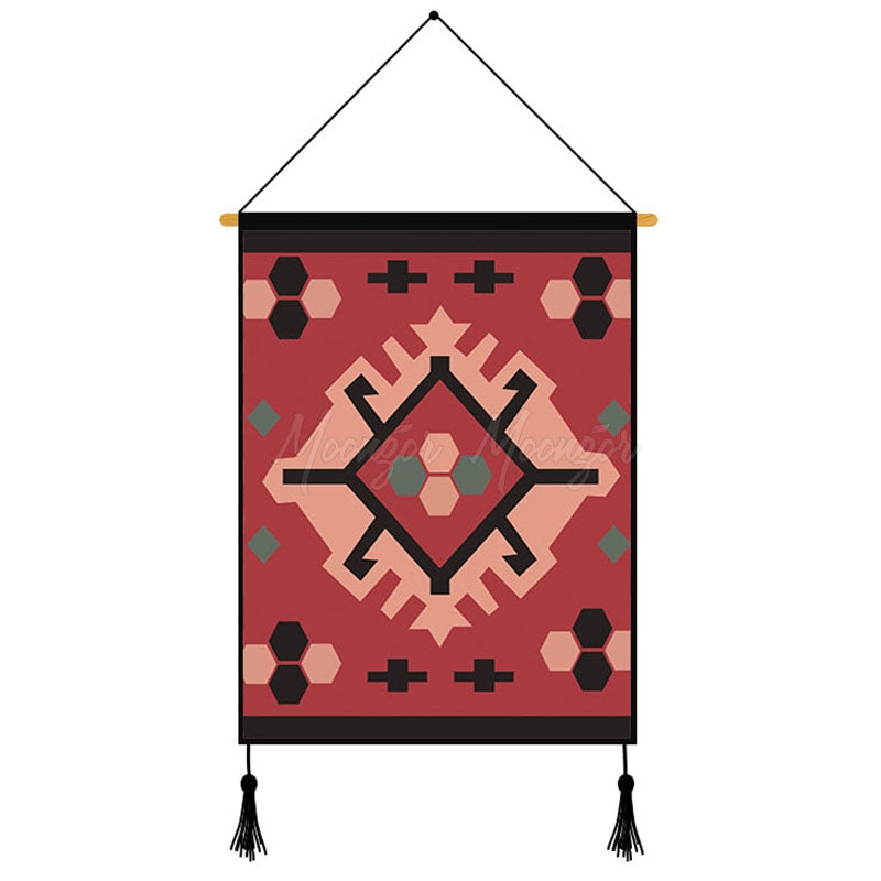 Creative Geometric Pattern Printed Wall Hanging Decoration