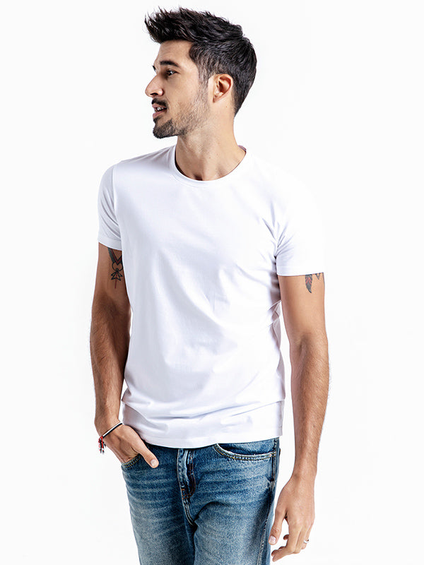 Comfortable Pure Color T-shirt