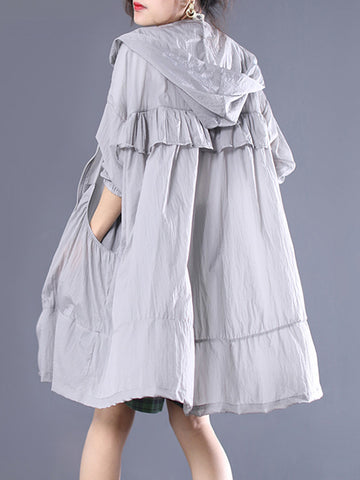 National Asymmetric Ramie Cotton Linen Dress