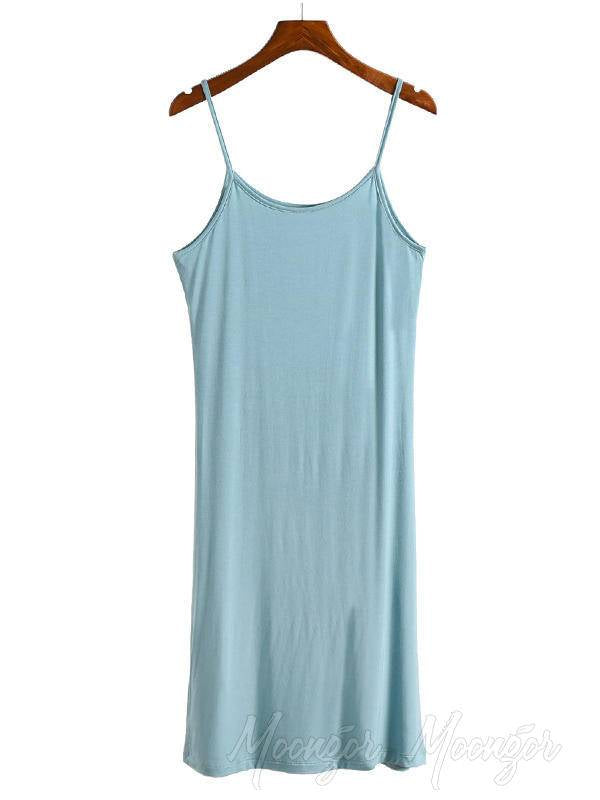 Loose Solid Color Comfortable Sleeveless Pajamas